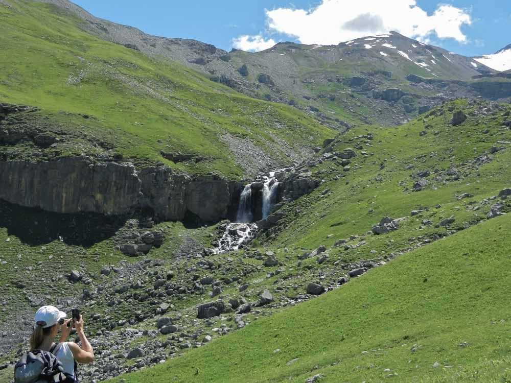 cascades lors d'une randonnée en Haute Tinée Mercantour avec rando06