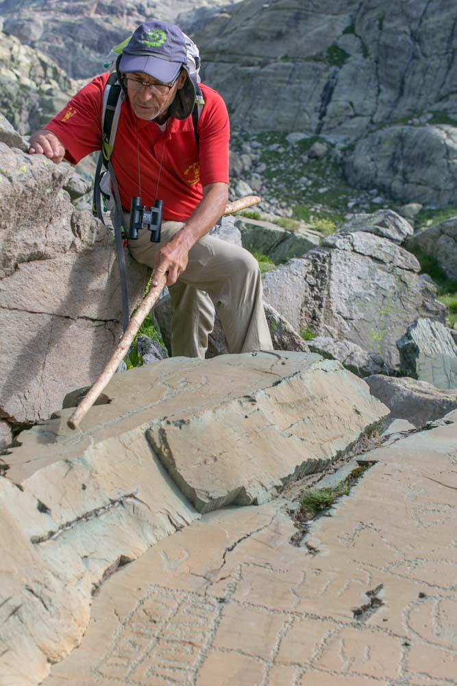 Alain accompagnateur en Montagne de l'équipe Rando06 dans la Vallée des Merveilles