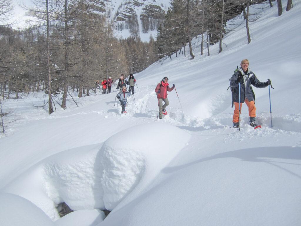 Randonnée raquettes à neige Mercantour Rando06