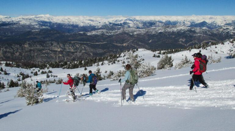 randonnée raquettes à neige Gréolières rando06 et fabhikes