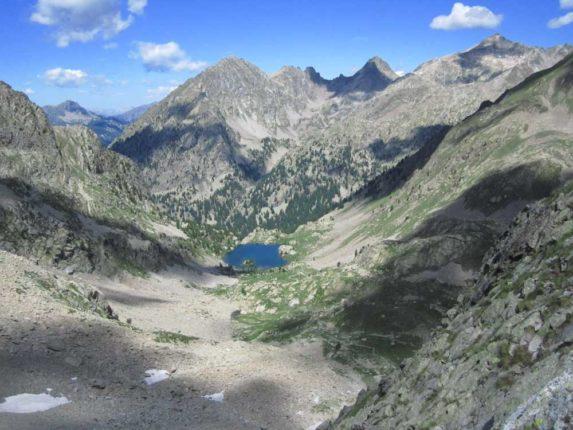 Vue sur les lacs lors de cette randonnée au sommet de la vésubie